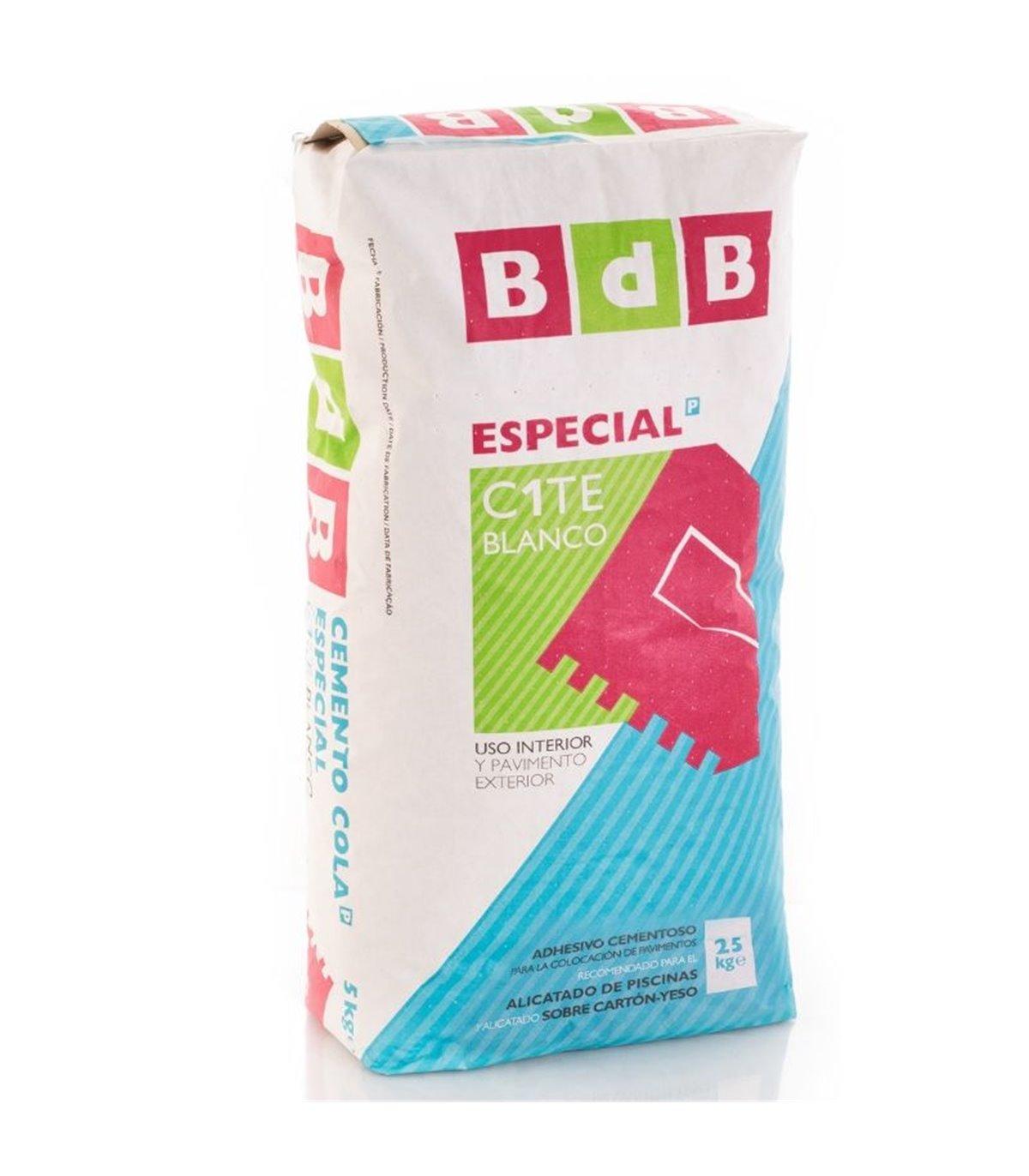 MORTERO COLA BDB ESPECIAL BLANCO C1TE 25KG