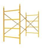 Andamios de obra tradicionales, crucetas, soportes y pasarelas.